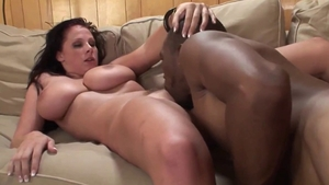 Natural and busty MILF in tiny thongs gonzo nailed