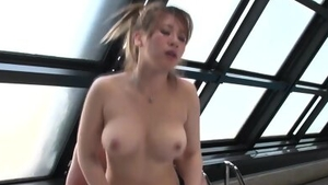Large tits japanese brunette pussy eating