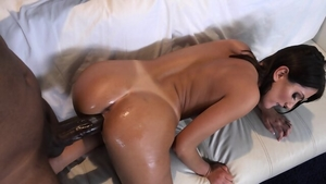 Brunette goes for plowing hard