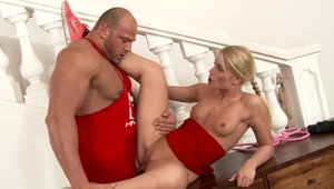Good fuck in the company of charming babe Sweet Cat