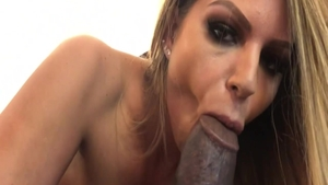 Pawg Brooklyn Chase loves gagging in lingerie