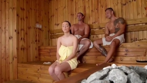 Big tits young czech 18 yr old dick sucking in sauna