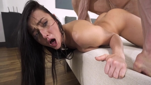 Dirty brunette Katy Rose helps with rough nailing