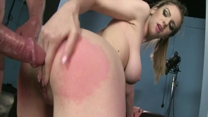 Large tits babe Stella Cox being fucked by Ben Dover