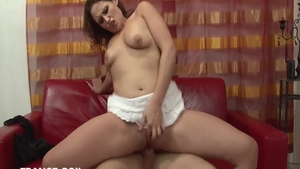 Super hot french babe romantic ass fucking