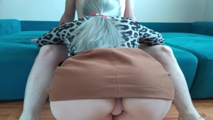 'Upskirt View oral-job-sex End Up With Titjob'