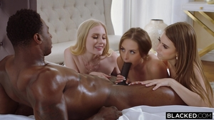 Shaved blonde haired Kyler Quinn wishes for nailing HD