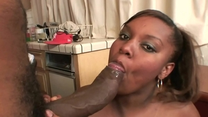 Deepthroat escorted by exotic woman very juicy ebony BBW