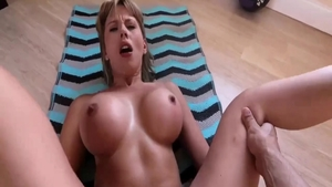 Hard real sex in the company of busty babe Amber Chase