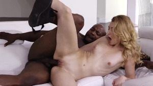 Super sexy plowed by big black cock stepfather