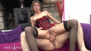 Cumshot nude french in sexy stockings