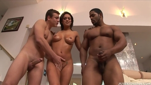 Hard nailining escorted by huge tits brunette