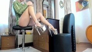 Horny blonde babe digs the best sex in high heels