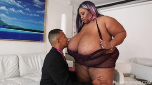 Big tits Candy Cotton BBW rides a hard dick sex video