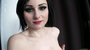 Inked and hawt Veruca James in stockings cumshot in the bed