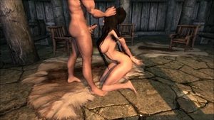 Muscle and hairy brunette skyrim footjob on Halloween