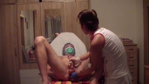 Russian cumshot in clinic in HD