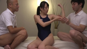 Kinky wearing suit oily competition massage in HD