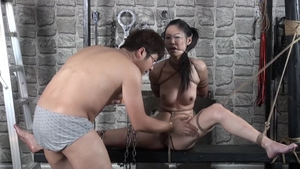 Female orgasm with very small tits hairy japanese brunette