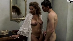 Young italian MILF bends to get fucked