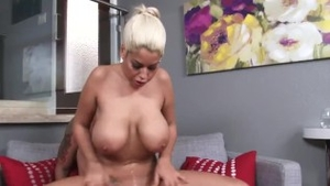 Pussy sex together with large tits spanish blonde
