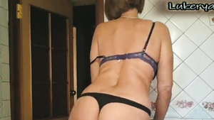 Very sexy housewife seduced on live cam