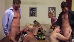 Amateur Kati Bell homemade orgy in HD