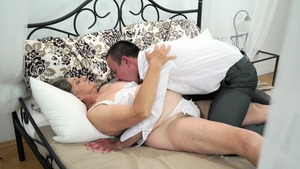The best sex in the company of hairy MILF