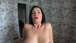 Raw sex along with large boobs german amateur