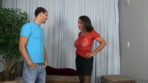 Saggy tits and hairy stepmom Persia Monir in the bra roleplay