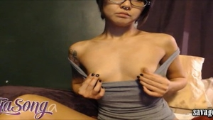 Raw sex in company with petite babe