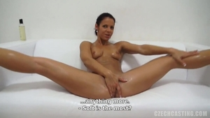 Teen need gets oil hard nailining at the castings