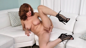 Softcore sex together with big boobs redhead