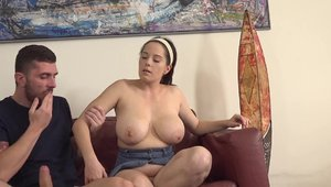 Chubby czech babe cowgirl sex at casting