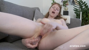 Petite redhead fucked in the ass solo