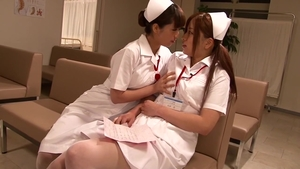 Hardcore sex together with too cute japanese brunette