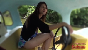 Hottest asian brunette need POV fucking hard outdoors in HD