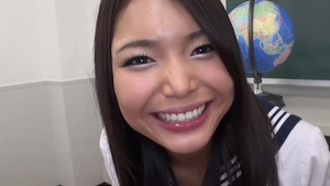 Asian teen Megumi Shino has a thing for real sex in HD