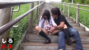 Small tits hairy brunette uncensored outdoors