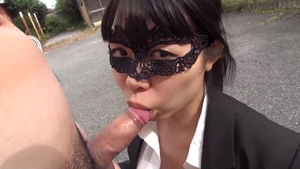 Uncensored asian sex with toys outdoors
