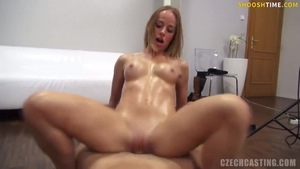 Oil slamming hard with very sexy czech amateur