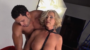 American blonde haired cumshot