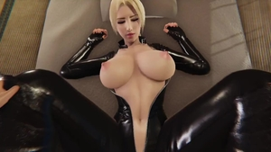 3d big boobs wearing latex dick sucking