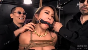 Hairy asian blonde hair group sex in HD