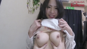 Hard ramming huge boobs asian brunette in tight stockings