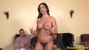 Huge boobs stepmom Jewels Jade has a passion for gangbang