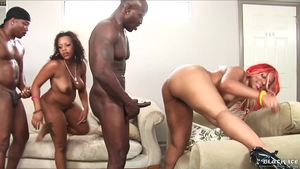 Bubble butt ebony rough interracial fuck