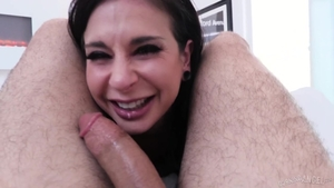 Tattooed and hot brunette Joanna Angel raw ass pounding