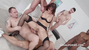 Syren Demer in stockings double penetration HD
