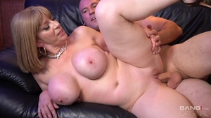 Hottest blonde Sara Jay hardcore blowjob after interview